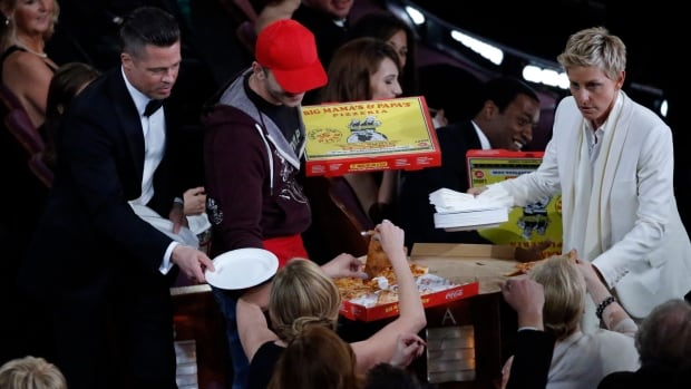 Ellen DeGeneres had an assortment of pizzas delivered to the front seats of the Dolby Theatre in 2014. That's Brad Pitt and a bewildered delivery guy named Edgar handing out slices during the 86th instalment of the Academy Awards.