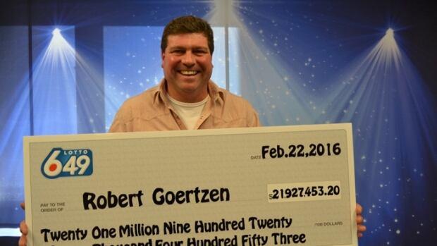 Robert Goertzen from Kelowna, B.C., is the latest Lotto 6/49 winner.