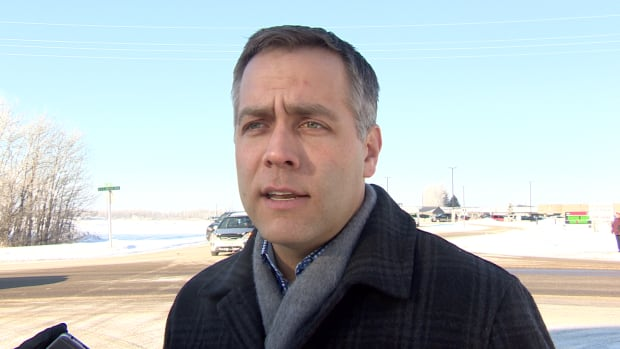 NDP leader Cam Broten spoke with reporters in Prince Albert about his concerns over patient care in the province.