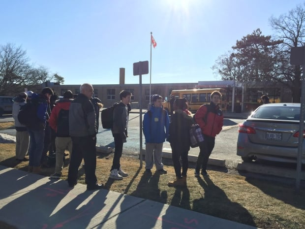 students outside of Dunbarton high school stabbing