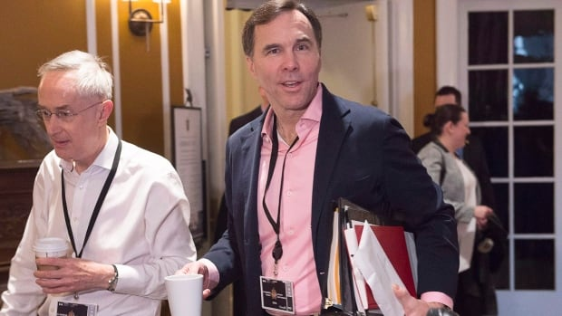 Finance Minister Bill Morneau at a cabinet retreat in St. Andrews, N.B., where the median age is almost a decade older than the Canadian average.