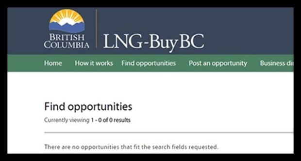 A BC website set up to promote LNG jobs
