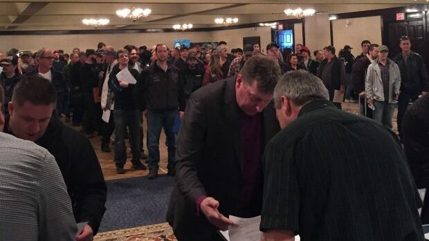 1,000 people lined up at a Site C job fair in Prince George for a chance to drop off their resume and make a short pitch to contractors building the $1.75 billion dam.