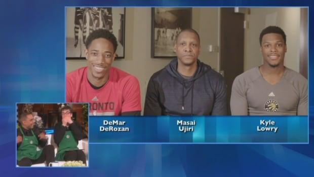 Raptors on Ellen