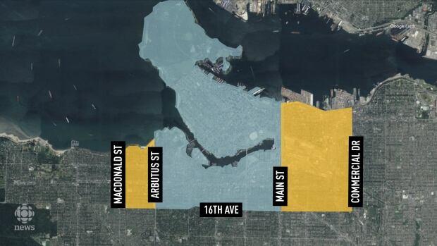Vancouver bike map