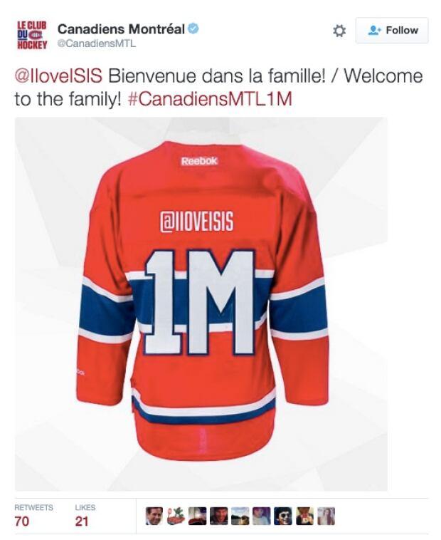 Habs ISIS Tweet