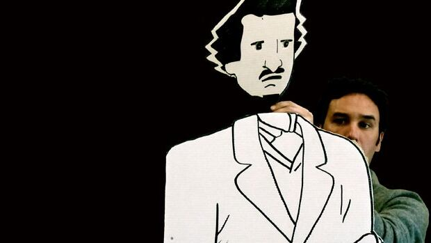 Louis Riel: A Comic Strip Stage Play mixes black-and-white cut-outs with live acting and shadow imagery to tell the story of Riel's 19th-century rebellion.