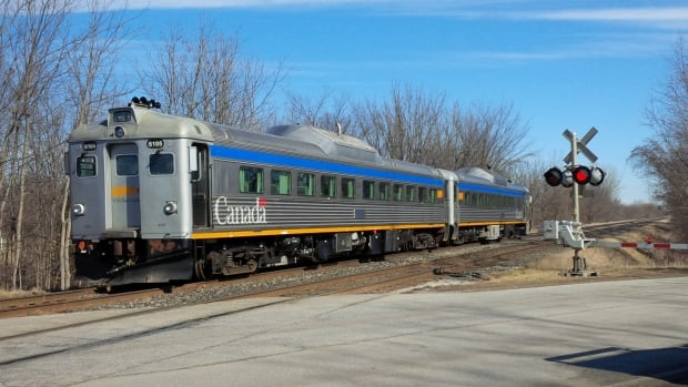 VIA Rail tests passenger cars for new southern Ontario runs. Tests were conducted between Chatham and Thamesville.