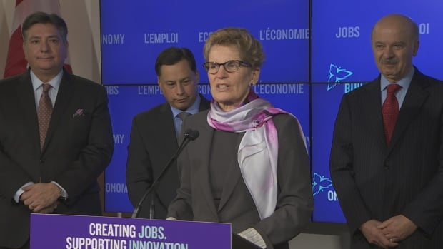 Wynne and Sousa at presser before budget