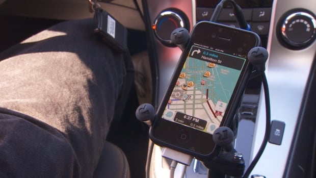 A commuter uses the Waze app to escape traffic in Vancouver.