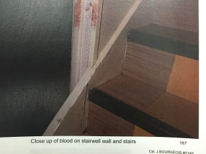 blood on stairs