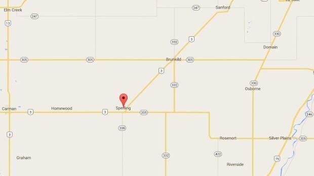 Sperling, Man., is more than 60 kilometres southwest of Winnipeg.