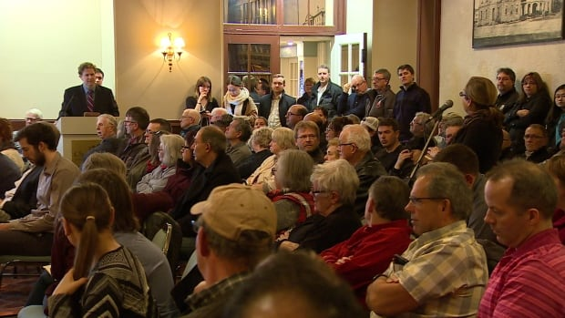 Wednesday night's public meeting had a packed crowd.