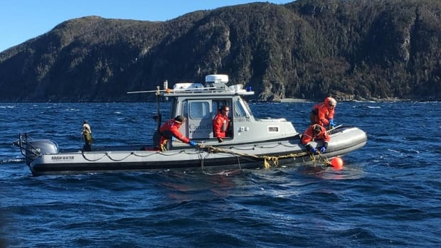 The team, whose gear and boat are still in winter storage, partnered with officers from the Department of Fisheries and Oceans to rescue the whale.