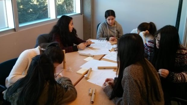The participants of this team at the SFU Technovation competition are Terry Fox Secondary students.