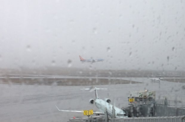 Sunwing flight spotted from the Halifax airport