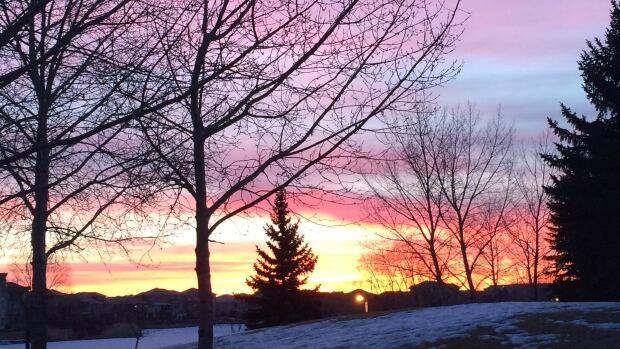 A sunrise in Regina, Sask.
