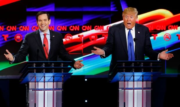 WIP USA-ELECTION Rubio and Trump on CNN Feb 25 2016