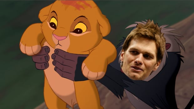 Tom Brady posted video introduction of families new puppy by re-enacting the opening scene of Disney's The Lion King.