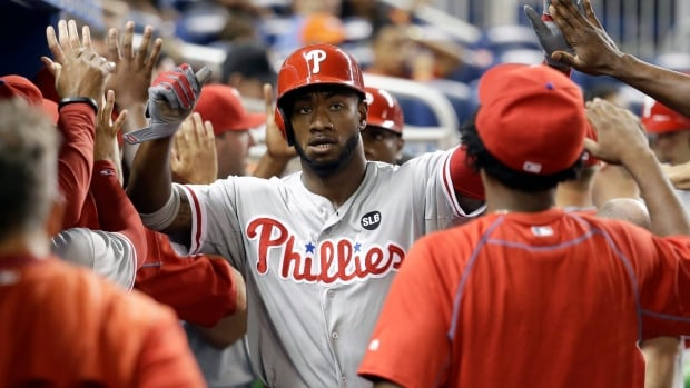 Former Phillies outfielder Domonic Brown played with Philadelphia since 2006 before joining the Toronto Blue Jays.
