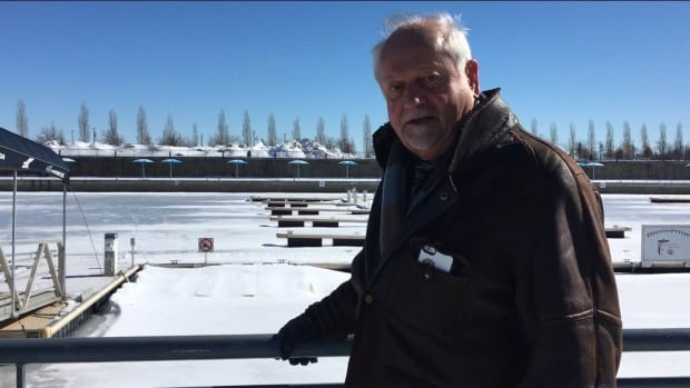 'Anyone who found themselves in that moment would have done the same thing' says Serge Bohec, posing in front of the marina where he helped save a man who had fallen in  the water.