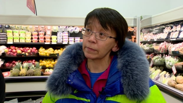 Leesee Papatsie is an activist in Iqaluit, known for starting the Facebook group Feeding my Family.