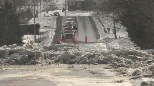 beauceville streets ice jam flood