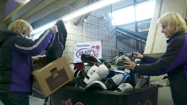 Skate To Great collects gear for young players who can't afford it