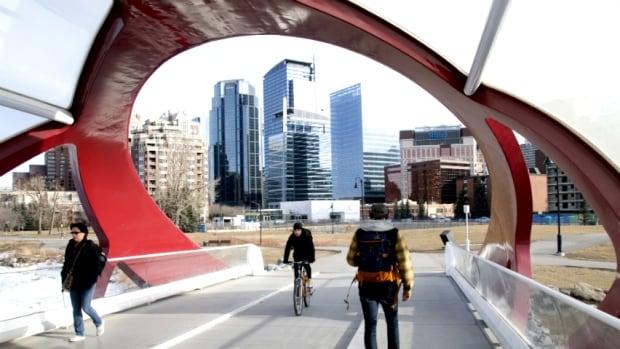 Calgary 6155 peace bridge downtown skyline