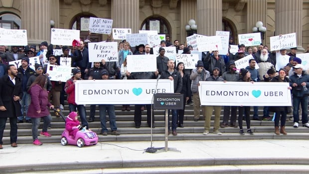 Over a hundred of Uber supporters made their way to the legislature grounds on Saturday, Feb 27.