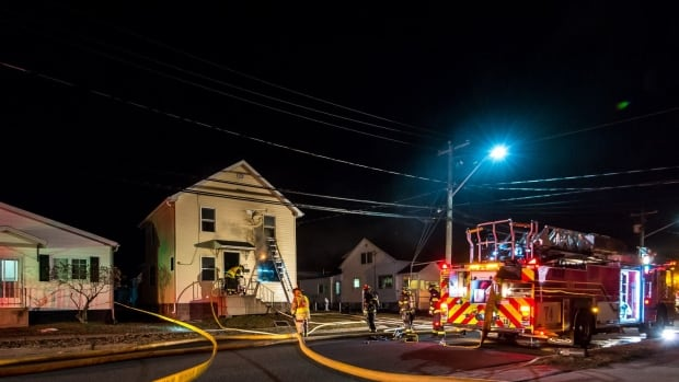 The Moncton Fire Deparment extinquished a fire at a residence on Churchill Street early Sunday morning.