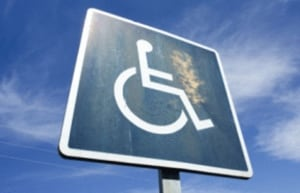 old disability sign