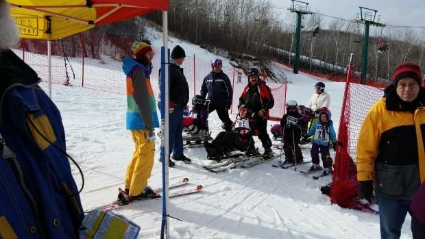 Members of the Regina Alpine Adaptive Ski Program at Mission Ridge in Saskatchewan.