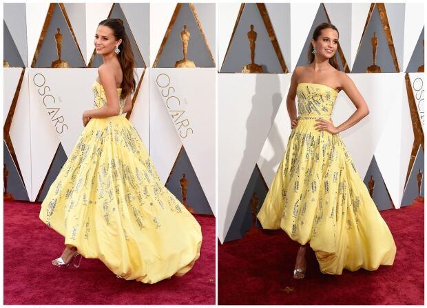 OscarsFashion2016 - Alicia Vikander