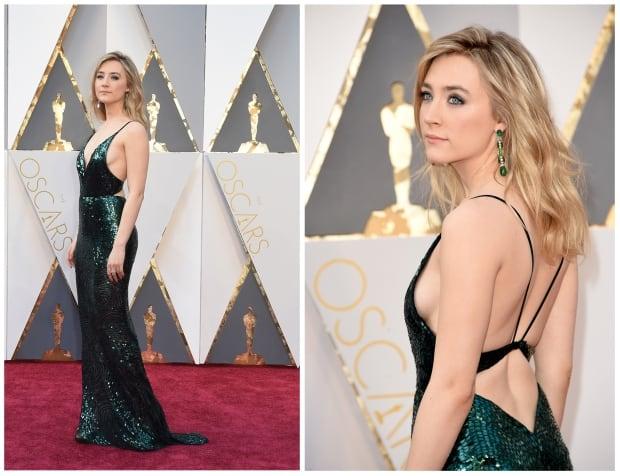 OscarsRedCarpet2016 - Saoirse Ronan