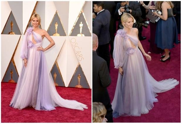 Heidi Klum Oscars 2016 red carpet by Jason Merritt and Mark Davi