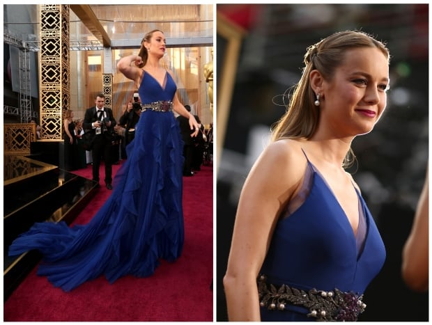 Brie Larson Oscars 2016 red carpet by Christopher Polk for Getty