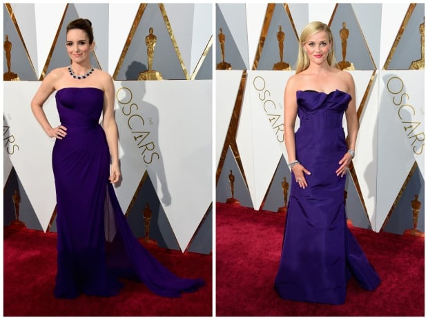 Tina Fey and Reese Witherspoon Oscars 2016 red carpet by Frazer