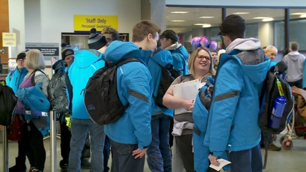 Team Alberta headed east Sunday to compete in the Special Olympics Canada Winter Games in Corner Brook, N.L.