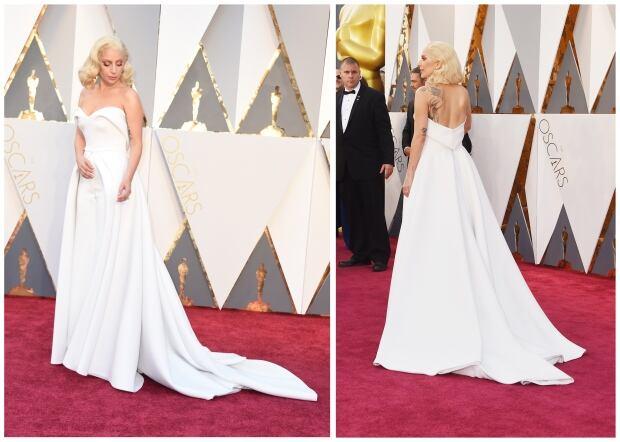 Lady Gaga Oscars 2016 by Valerie Macon and Jason Merritt for Get