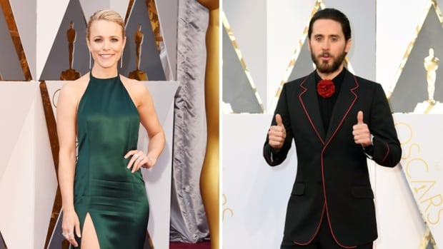 "Canadian actress McAdams stunned in an on-trend emerald green August Getty Atelier gown, while actor Jared Leto was nicknamed ""hipster Dracula"" on Twitter."