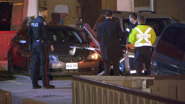 A man was pronounced dead in a car after a fatal shooting in Etobicoke overnight Sunday.