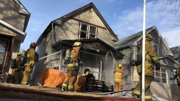 Regina fire crews fought a blaze at 1432 Garnet St. on Feb. 29.