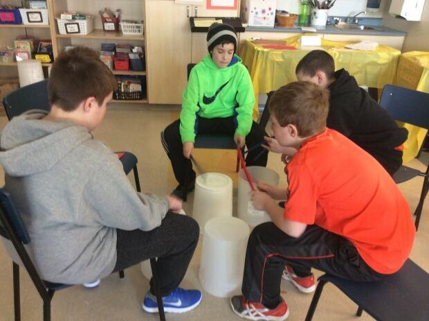 Bucket drumming 4