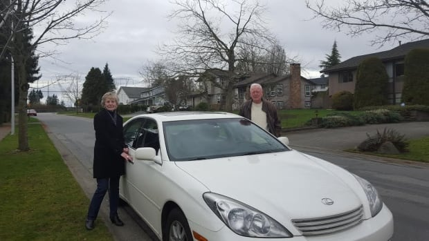 John MacInnes (right) drove cancer patient Myra Ford from her home to treatments under the old volunteer driver program. Thanks to a new program funded entirely by public donations, he will once again be able to drive Ford to treatments.