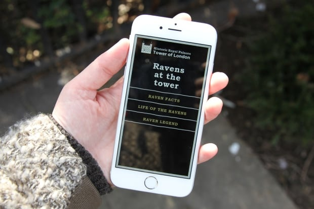 Raven app at Tower of London