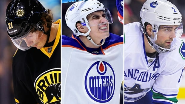 From left to right, Loui Eriksson, Nail Yakupov, and Dan Hamhuis were all speculated to be on the move on NHL trade deadline day on Monday.