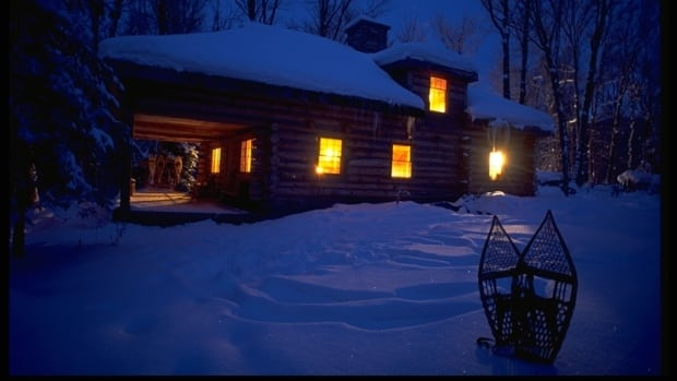 The Ontario Tourism Marketing Partnership Corporation hopes promotional photos like this one — described by a public relations representative as a 'cozy log cabin alternative to a beach cabana' — will entice people to stay closer to home for March Break.