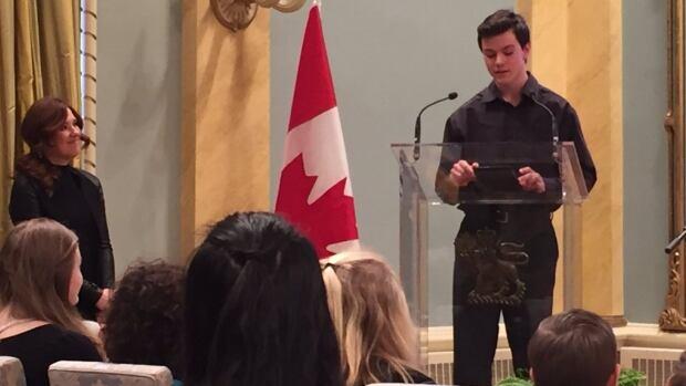 15-year-old Christopher Sanford Beck reading his award-winning short story.