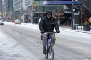 Snowy Bike ride, toronto